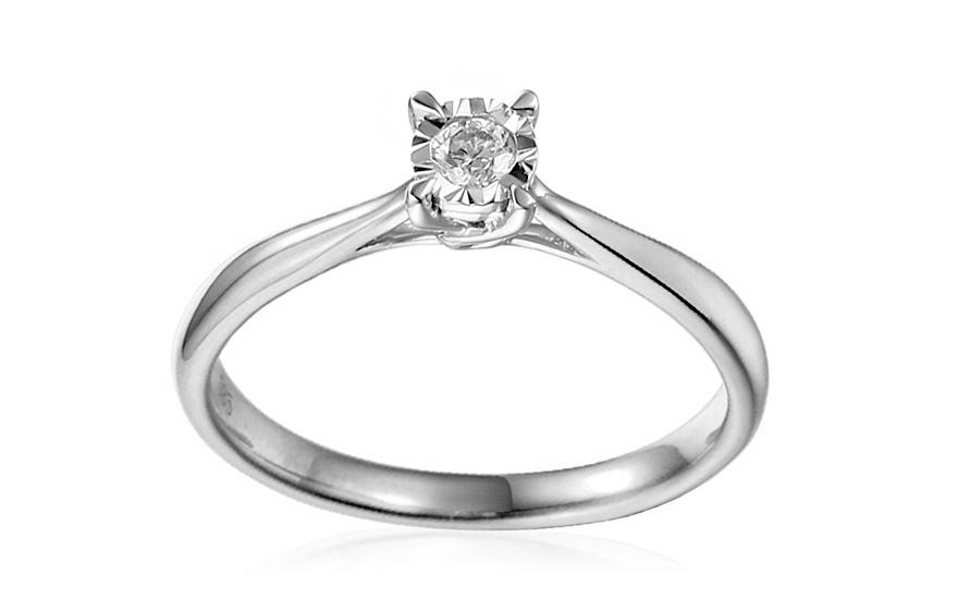 Zásnubní prsten z bílého zlata s diamantem Vianne IZBR314A