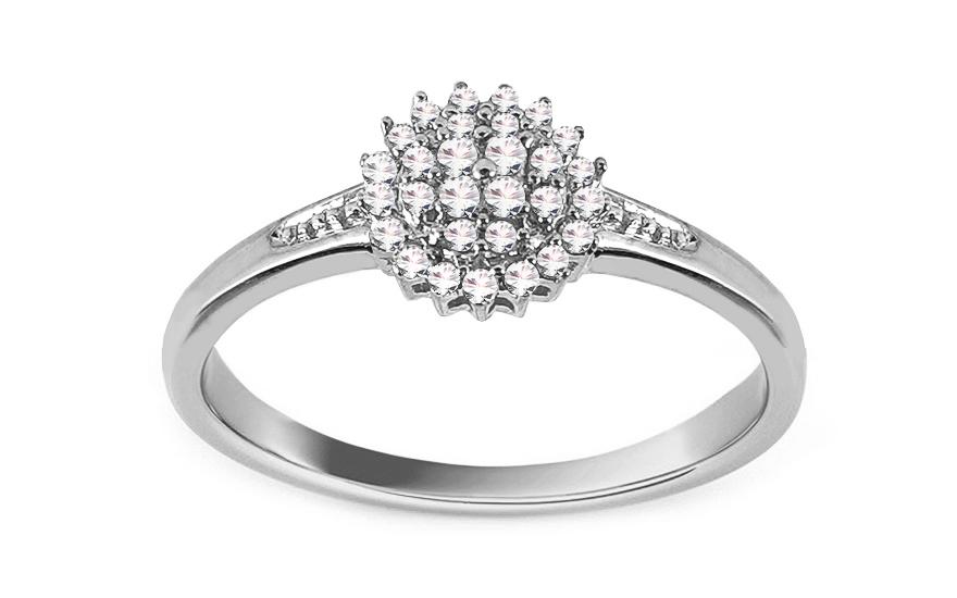 Zásnubní prsten z bílého zlata s diamanty 0,110 ct Julietta CSBRI006A