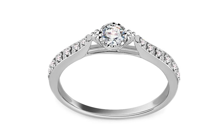 Zásnubní prsten z bílého zlata s diamanty 0 50bcd16cacb