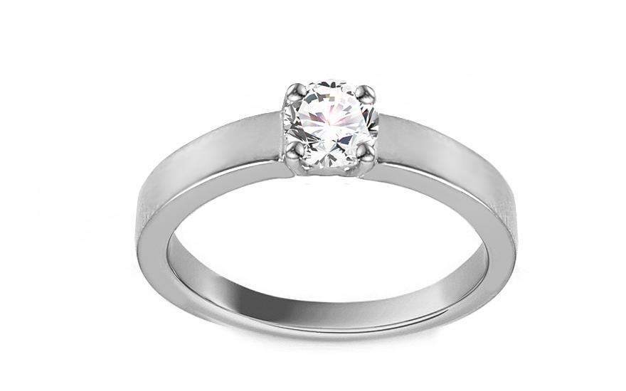 Zásnubní prsten z bílého zlata se zirkonem Adaliz IZ13298A