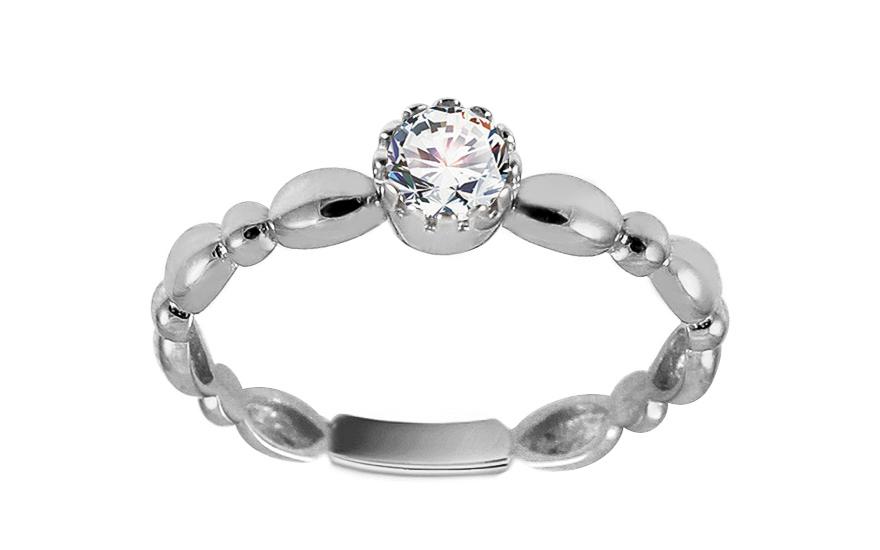Zásnubní prsten z bílého zlata se zirkonem Avril IZ13320A