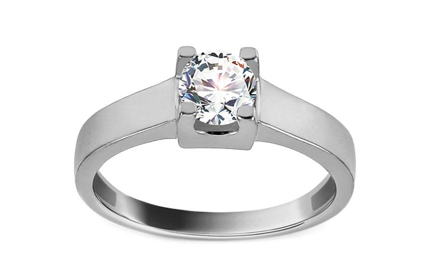 Zásnubní prsten z bílého zlata se zirkonem Edeva IZ13277A