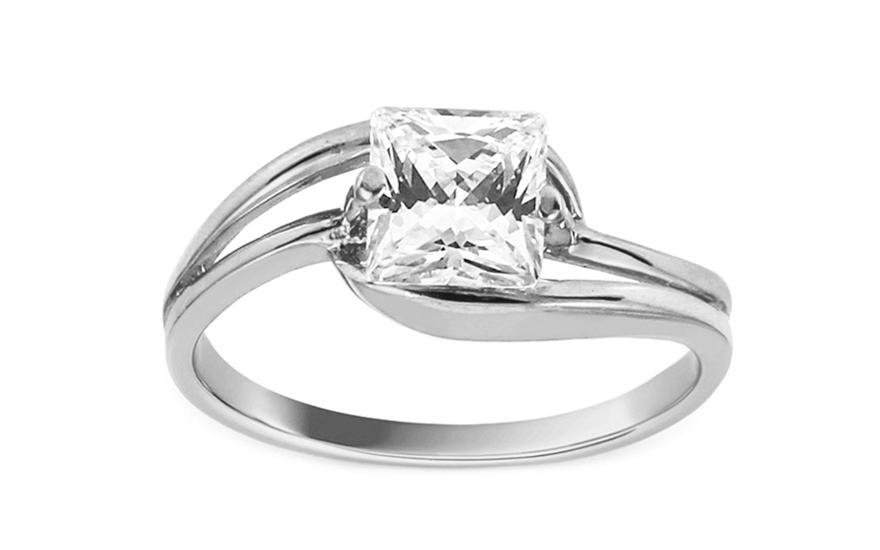 Zlatý zásnubní prsten Ramona 10 CSRI980A