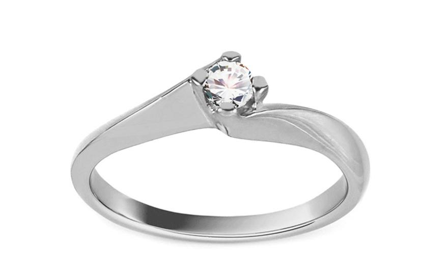 Zásnubní prsten z bílého zlata Grace 6 CS9RI1958A