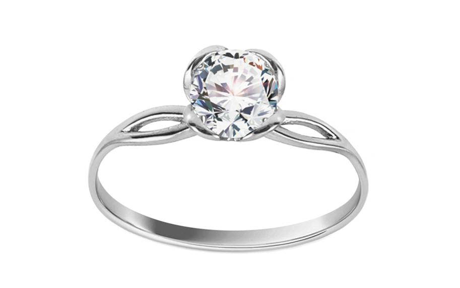 Zásnubní prsten z bílého zlata se zirkonem Diane 1 CS9RI1927A