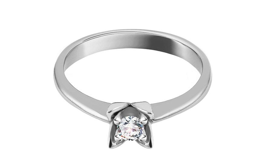 Zlatý zásnubní prsten Ramona 12 CSRI1379A