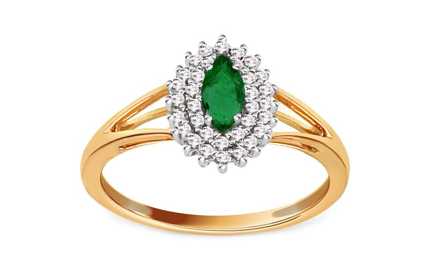 Smaragdový prsten 0,150 ct Talea 11 KU0091