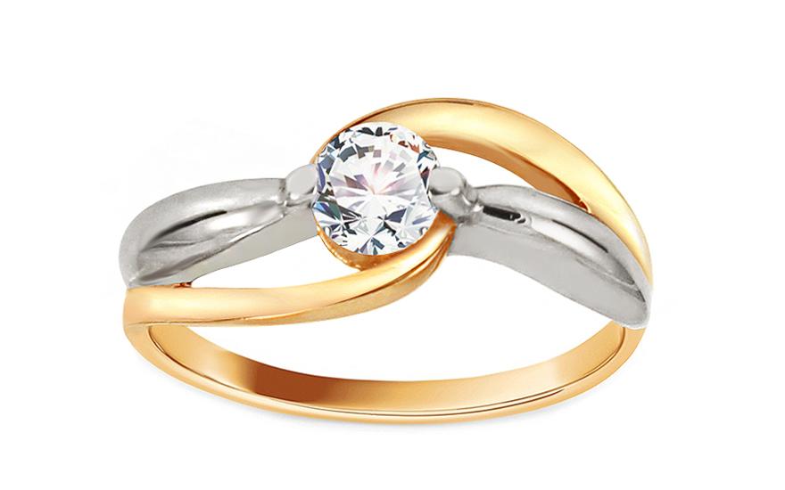 Zlatý zásnubní prsten Ramona 11 CSRI1278