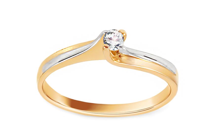 Zlatý zásnubní prsten Princess 7 CSRI242