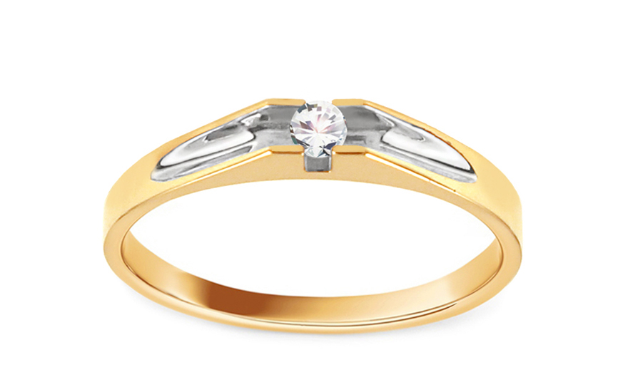 Zlatý zásnubní prsten Pretty 14 CSRI2067