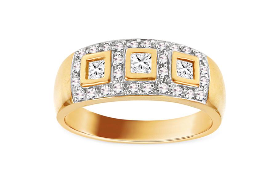 Zlatý zásnubní prsten Barbara 2 CSRI750