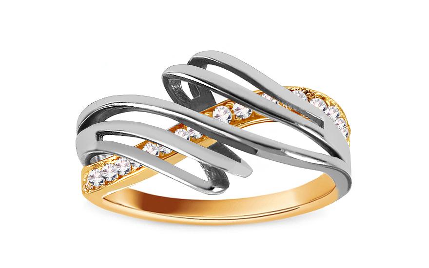 Zlatý prsten Ines 9 CSRI748