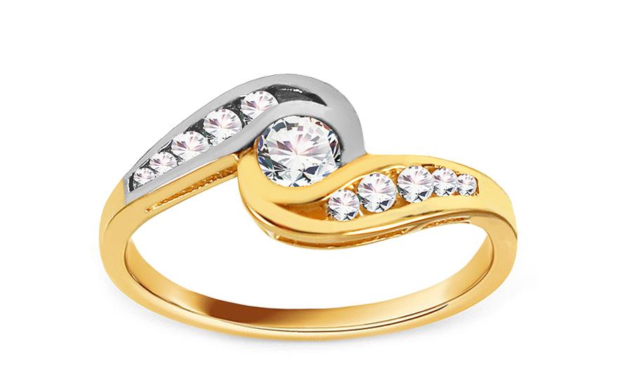 Zlatý zásnubní prsten Isar 3 CSRI736