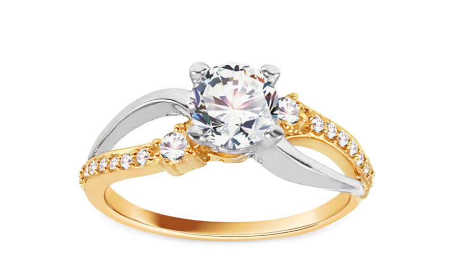 Zlatý zásnubní prsten Isar 29 CSRI815