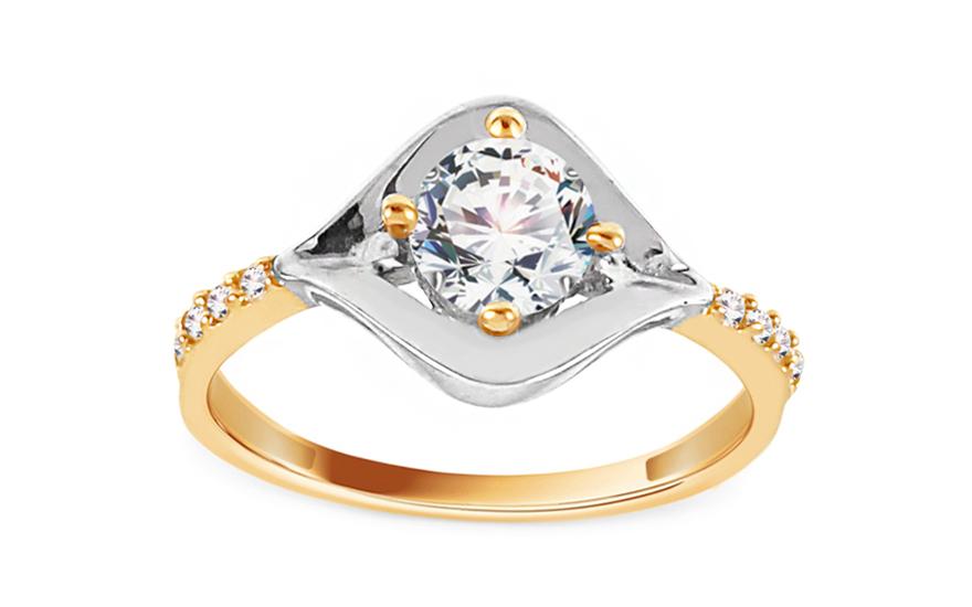 Zlatý zásnubní prsten Eye CSRI930