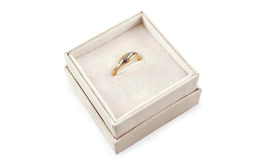 Zlatý zásnubní prsten Barbara 3 CSRI1001
