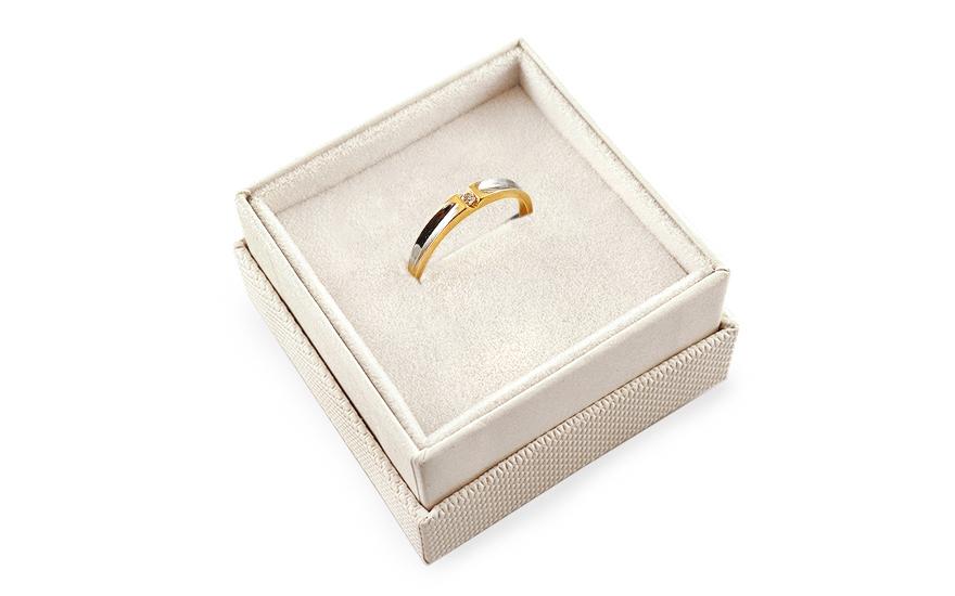 Zlatý zásnubní prsten Pretty 15 CSRI2068