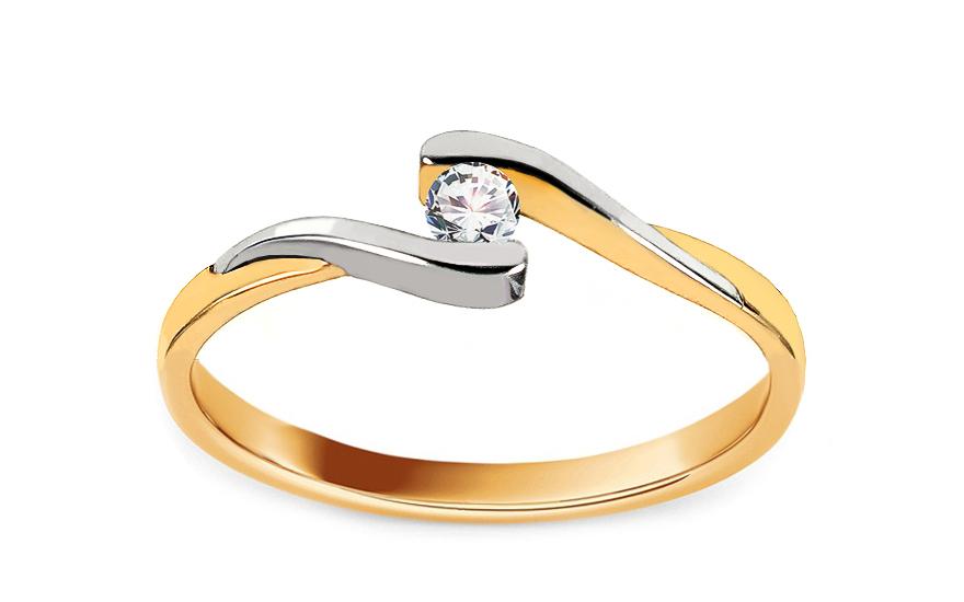 Zlatý zásnubní prsten Magic 5 CSRI2083