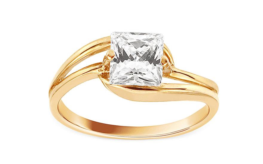 Zlatý zásnubní prsten Ramona 10 CSRI980