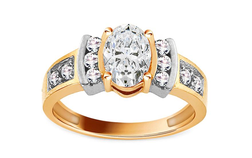 Zlatý zásnubní prsten Isar 21 CSRI734