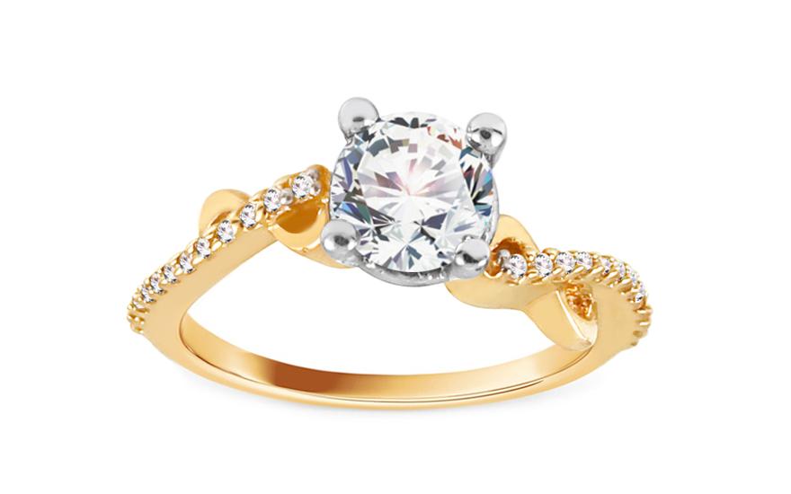 Zlatý zásnubní prsten Isar 20 CSRI804