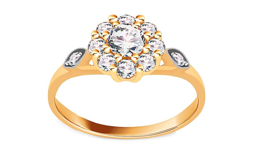 Zlatý zásnubní prsten Isar 7 CSRI728