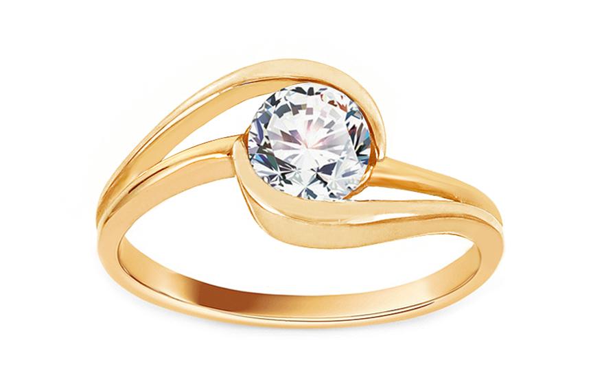 Zlatý zásnubní prsten Ramona 7 CSRI997
