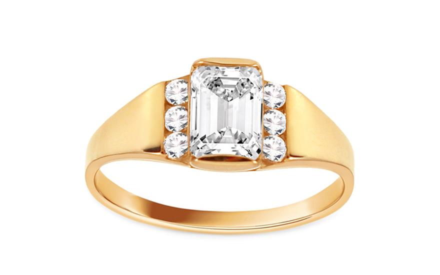 Zlaty zásnubní prsten Isar 26 CSRI93