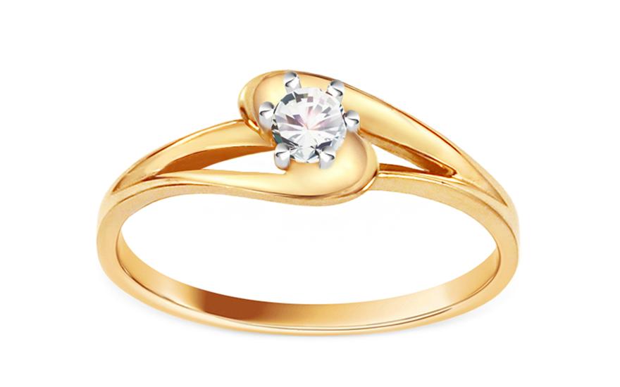 Zásnubní prsten se zirkonem Pretty CSRI1343