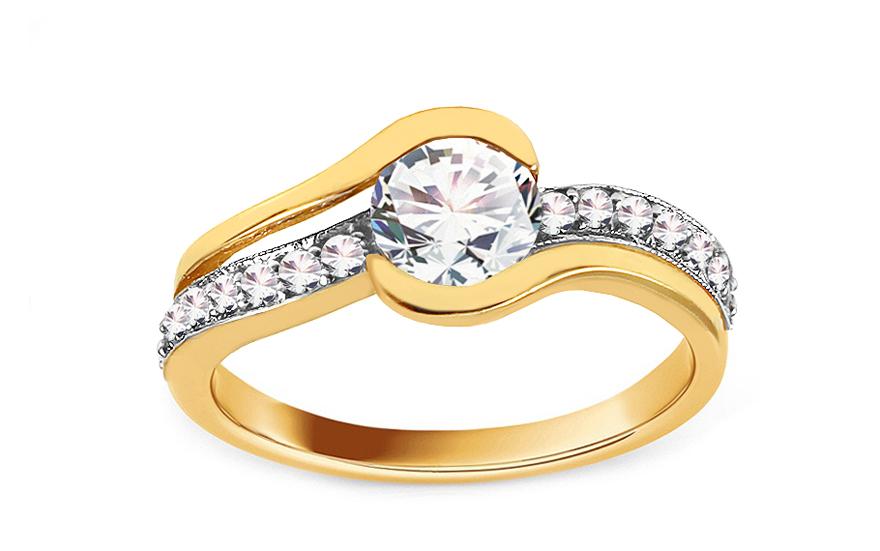 Zlatý zásnubní prsten Isar 24 CSRI280