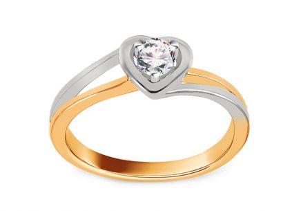 e9d913df0 Zásnubní prsten s diamantem 0,140 ct Sweet Heart ...