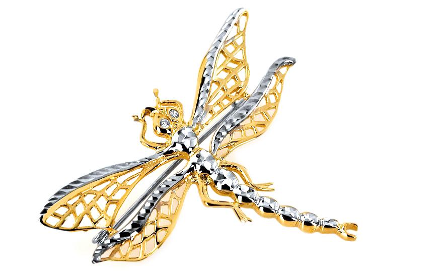 Zlatá brož Vážka IZ5972