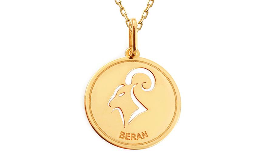Zlatá destička se znamením Beran IZ11585
