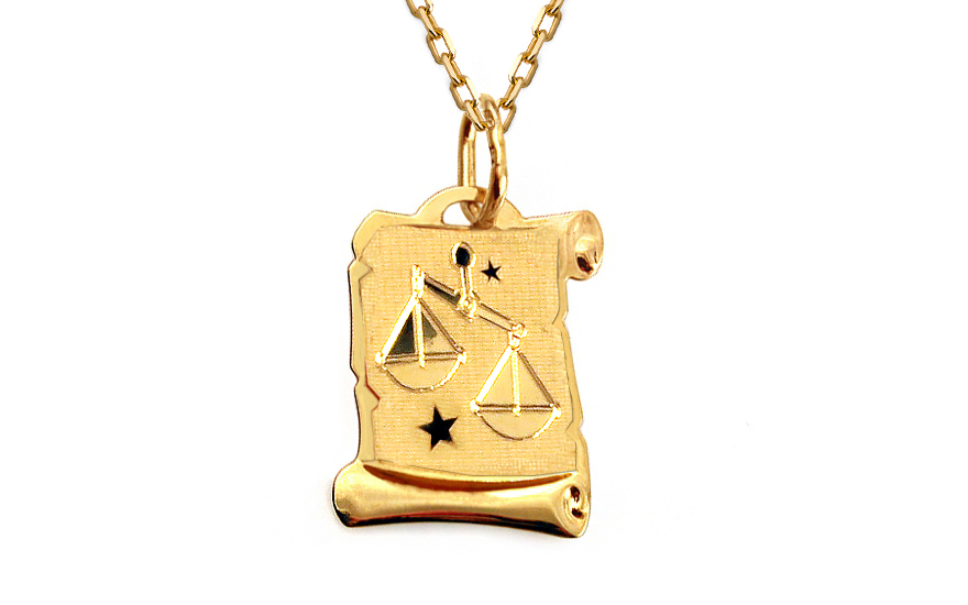 Zlatá destička se znamením Váhy IZ10037