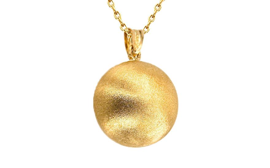 Zlatá pískovaná kulička průměr 1,5 cm IZKA304