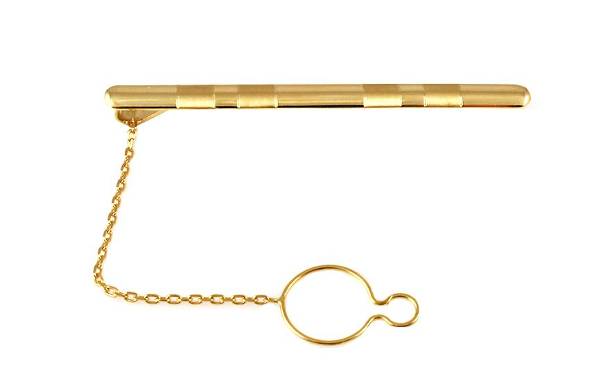 Zlatá spona na kravatu s matováním IZ9331