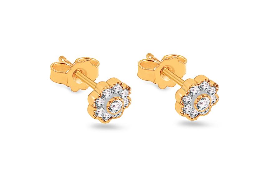 4b5884e66 Zlaté briliantové náušnice 0,200 ct Kvítky, pro ženy (ROYBR340N ...
