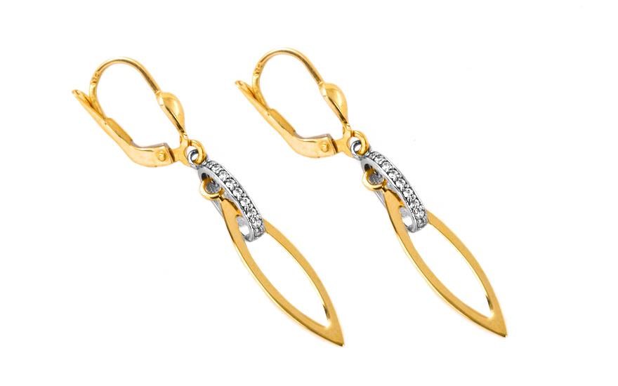 Zlaté dámské elegantní náušnice IZ7167