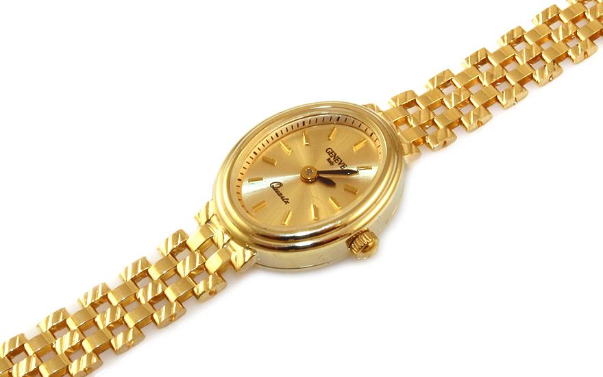 Zlaté dámské hodinky Geneve IZ9345