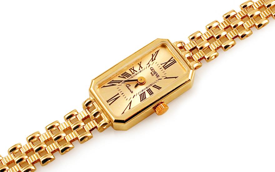 Zlaté dámské hodinky Geneve IZ11465