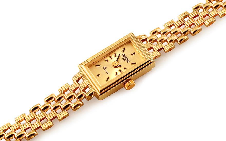 Zlaté dámské hodinky Geneve IZ12276