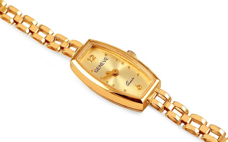 Zlaté dámské hodinky Geneve 21948ffe2d