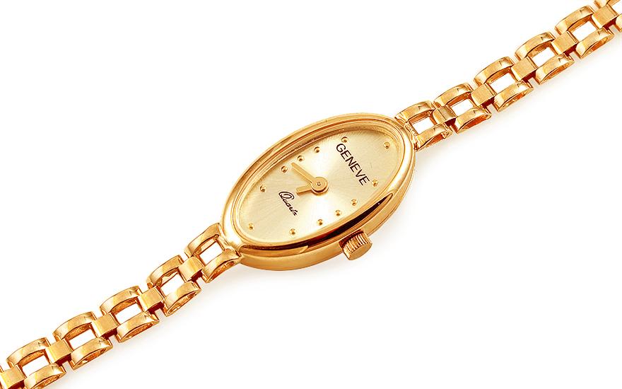 ca43b691f2e Zlaté dámské hodinky Geneve