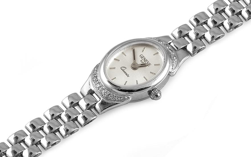 Zlaté dámské hodinky Treasure time white IZ7733