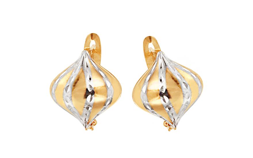 Zlaté dámské náušnice Byzantias IZ6183