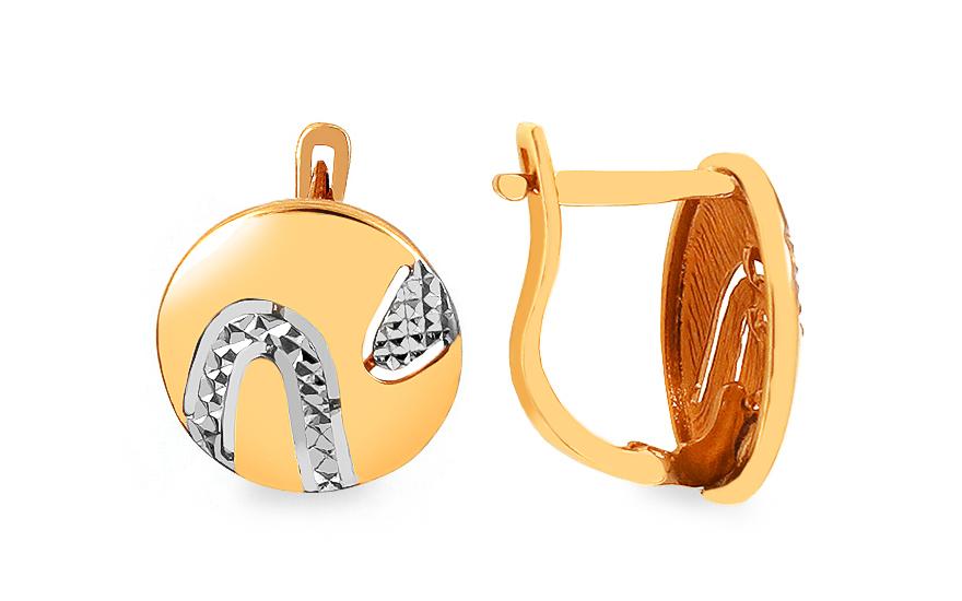Zlaté dámské náušnice do uší knoflíky IZ2944