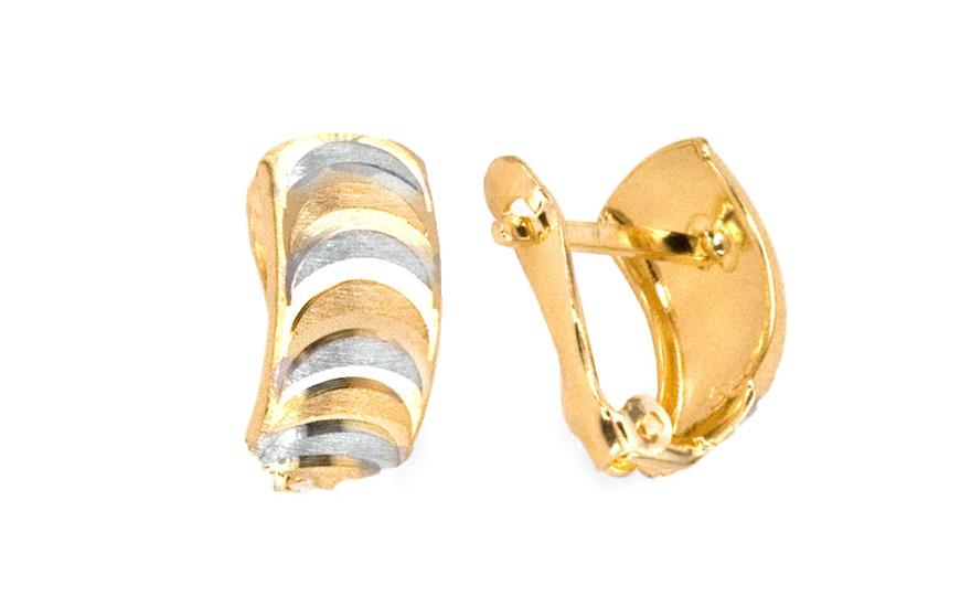 Zlaté dámské náušnice gravírované IZ4668