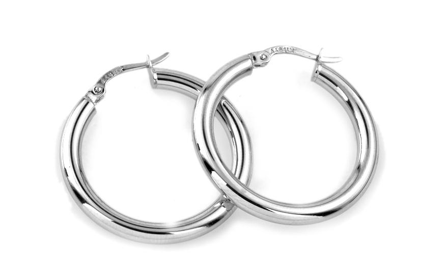 Zlaté dámské náušnice kruhy 2,6 cm IZ6939