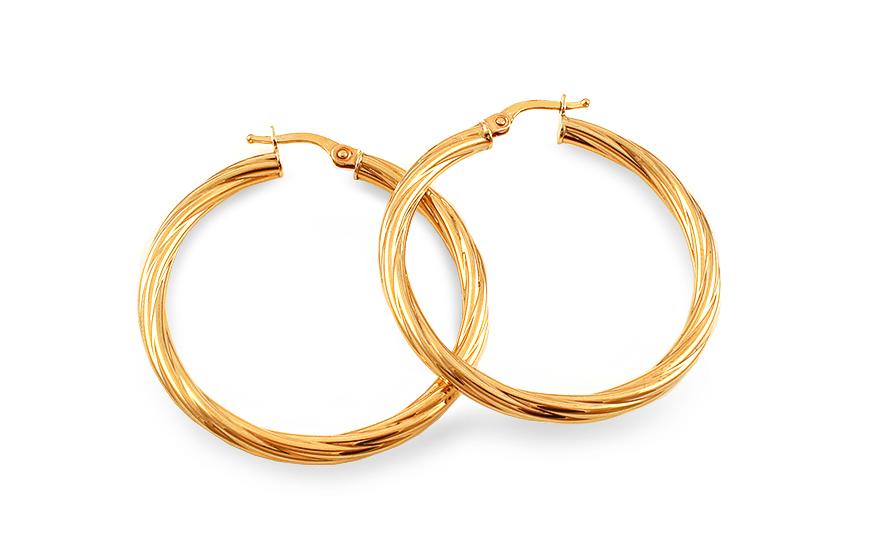 Zlaté dámské náušnice kruhy 3,5 cm IZ5948