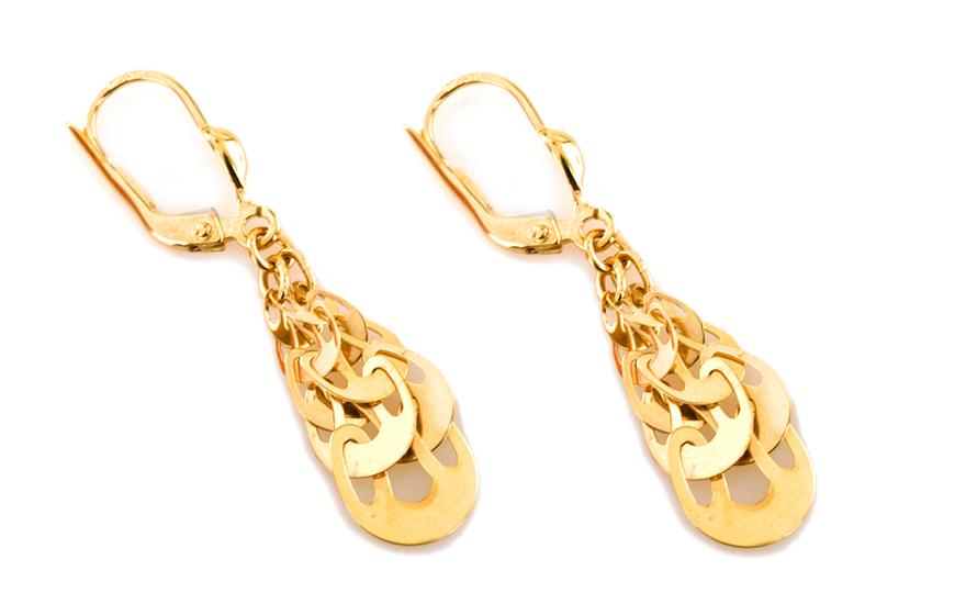 Zlaté dámské náušnice Selena IZ6927